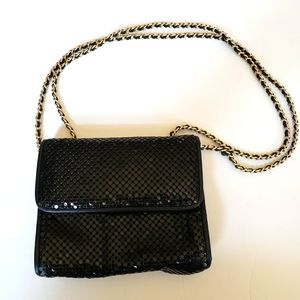 Vintage Whiting and Davis mesh double strap purse
